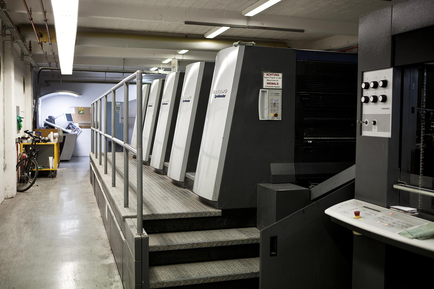 Printing at medialis, Photo by Sina Diehl