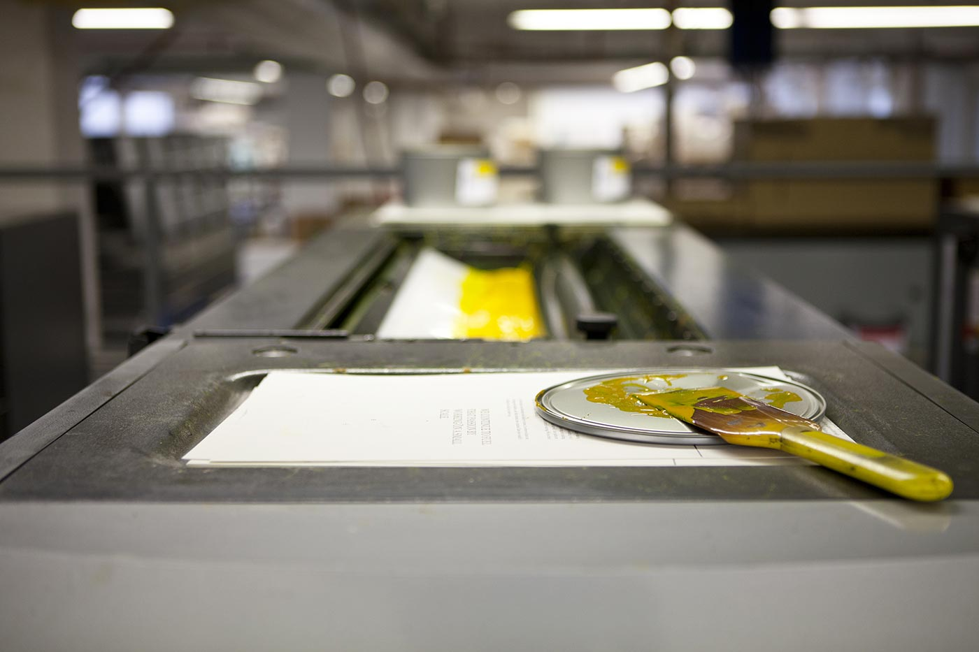 Printing at medialis, Photo by Sina Diehl